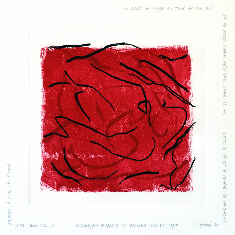 Sonore et nus. Eau-forte et aquatinte de Françoise Sullivan.